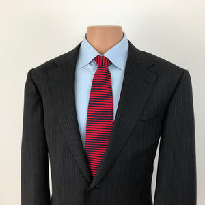 Canali Suit Jacket Wool Size 44R Made in Italy